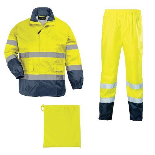 Ensemble de pluie haute visibilité HI-WAY RAINSWEAT jaune fluo taille XL - COVERGUARD - 7HWRYXL pas cher Principale L