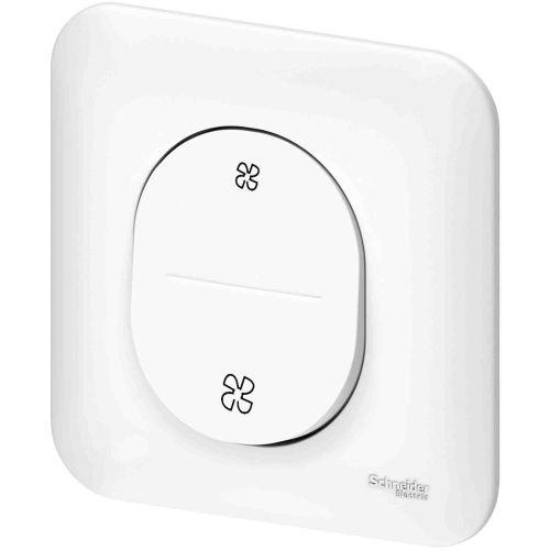 Interrupteur VMC OVALIS sans position arrêt blanc - SCHNEIDER ELECTRIC - S262233 pas cher Principale L