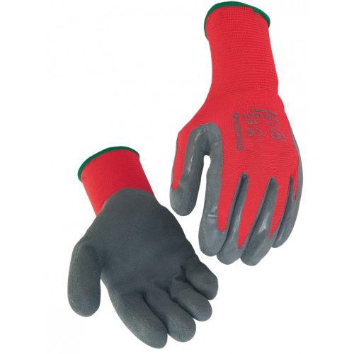 Gant latex gris nylon rouge TP photo du produit