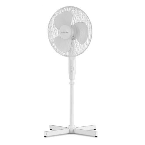 Ventilateur sur pied blanc hauteur réglable TVE 16 - 11/3050B pas cher Secondaire 1 L