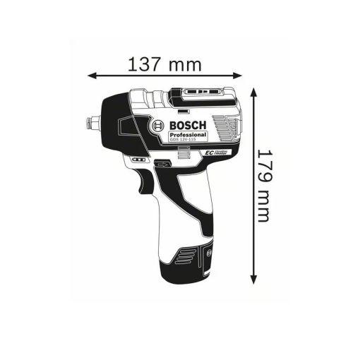 Boulonneuse sans-fil GDS 12V-115 Professional 12 V solo en coffret L-BOXX - BOSCH - 06019E0102 pas cher Secondaire 1 L
