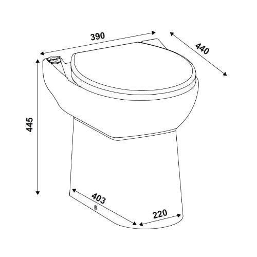 Cuvette WC à broyeur intégré Sanicompact 43 - SFA - C43STD pas cher Secondaire 1 L