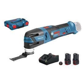 Découpeur-ponceur sans-fil Bosch GOP 12V-28 Professional 12 V + 2 batteries 3 Ah + chargeur + L-Boxx pas cher Principale M