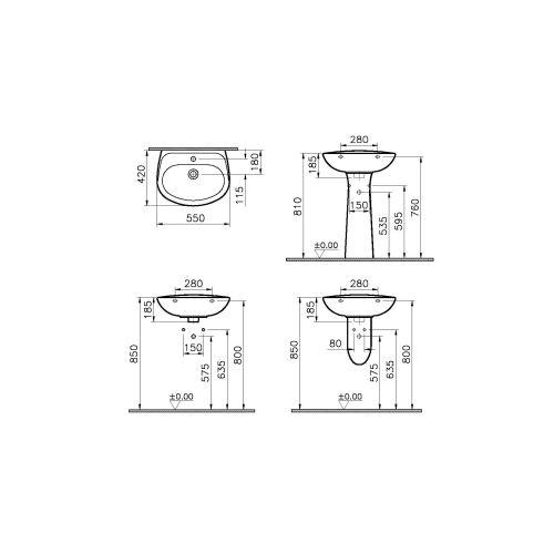 Lavabo gamme Normus VITRA photo du produit Secondaire 4 L