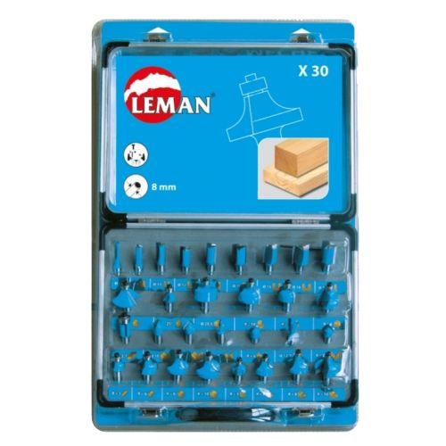 Coffret de 30 mèches de défonceuse Leman DEF.428.30 photo du produit