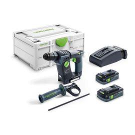 Perforateur SDS+ sans-fil Festool BHC 18 HPC 4,0 I-Plus 18 V + 2 batteries 4 Ah + Systainer SYS3 pas cher