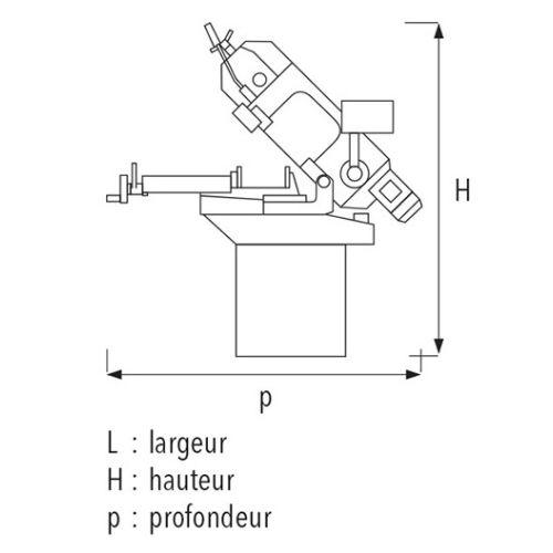 Scie à ruban manuelle Sidamo SR 170 MV photo du produit Secondaire 1 L