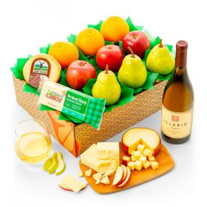 GiftTree Wine & Cheese & Fruit Gift Box