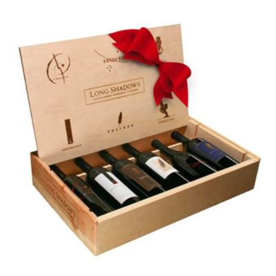 A box of six special red wines from Washington