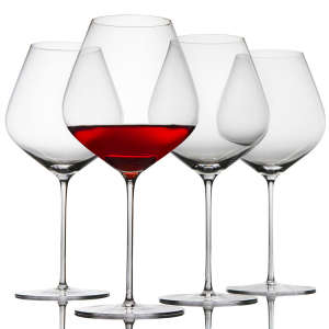 Nearly Unbreakable Crystal Pinot Noir Glasses