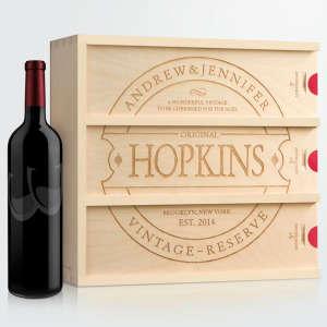 Handcrafted Customized Anniversary Wine Box