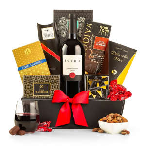 Red Wine & Chocolate Gift Basket