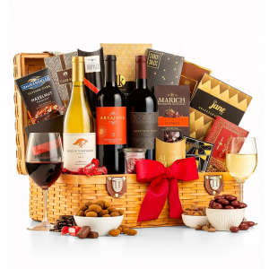 Great Value Wine Basket with Snacks & Chocolate