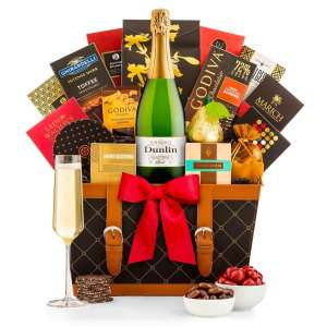 Sparkling Wine Wishes Gift Basket