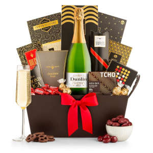 Sparkling Wine & Chocolate Gift Basket