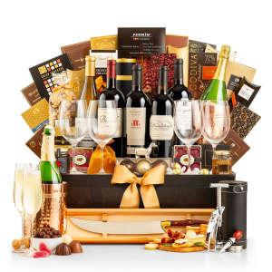 The Most Opulent Wine Gift Basket We've Ever Seen