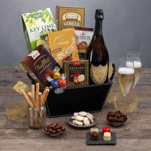 Dom Perignon & Chocolates Champagne Gift Basket