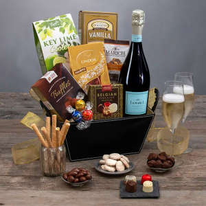 Prosecco & Chocolates Sparkling Wine Gift Basket