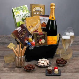 Veuve Clicquot & Chocolates Champagne Gift Basket
