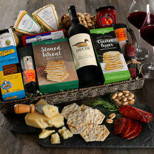 Gourmet Red Wine Gift Basket