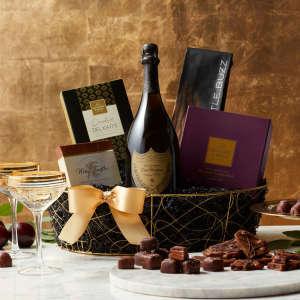 Dom Pérignon Champagne Gift Basket