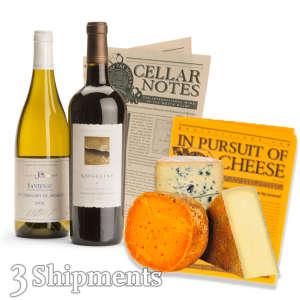 Premium Wine & Cheese Club / 3-Month Wine Club Gift