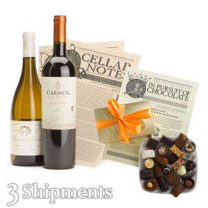 International Wine & Chocolate Club / 3-Month Wine Club Gift
