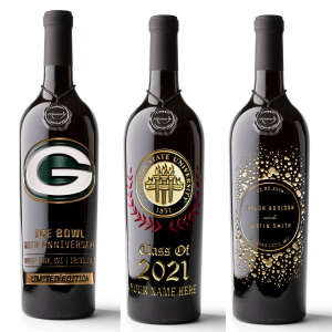 Custom Etched Wine Bottles —Personalize It