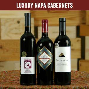 Luxury Napa Valley Cabernet Sauvignon Wine Bottle Set