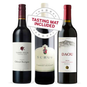 Wine Tasting Trio of Cabernet Sauvignon — With Tasting Mat