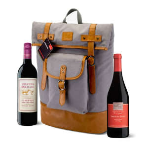 Foster & Rye Insulated Two-Bottle Wine Backpack — With Wine!