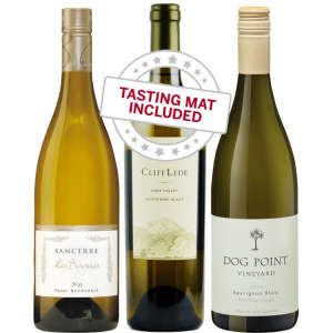 Wine Tasting Trio of Sauvingon Blanc — With Tasting Mat