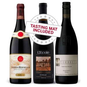 Wine Tasting Trio of Syrah — With Tasting Mat