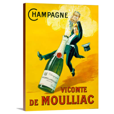 Vintage-Look Wine Art — Choose Print Size & Type