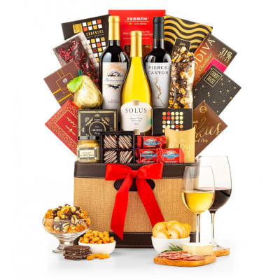 Three Cheers Gourmet Wine Basket