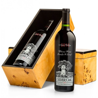 Engraved Silver Oak Napa Valley Cabernet Gift