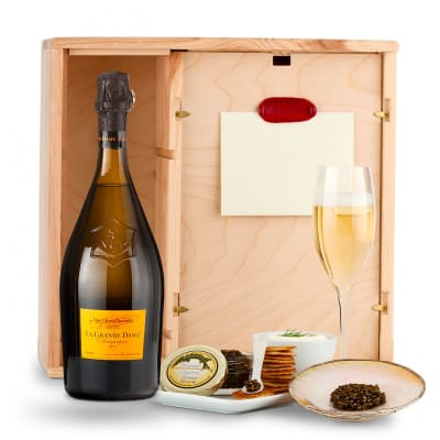 Veuve Clicquot La Grande Dame & Caviar Gift
