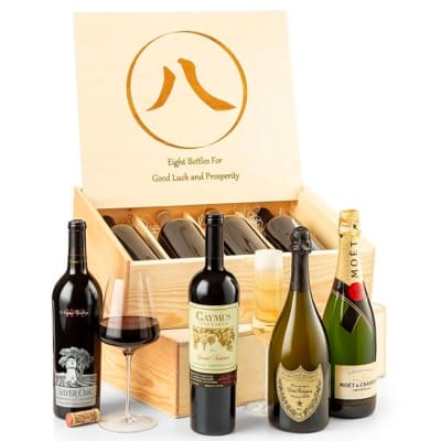 Eight Bottles of Ultra-Premium Champagne & Wine