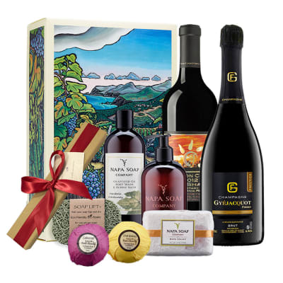Wine & Napa Valley Day Spa Gift Basket
