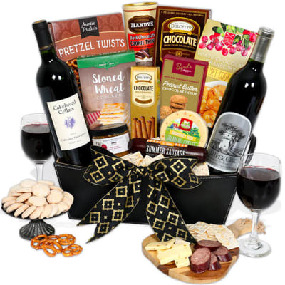 Silver Oak Alexander Valley & Cakebread — Red Wine Gift Basket
