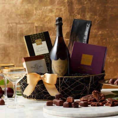 Dom Perignon Champagne Gift Basket