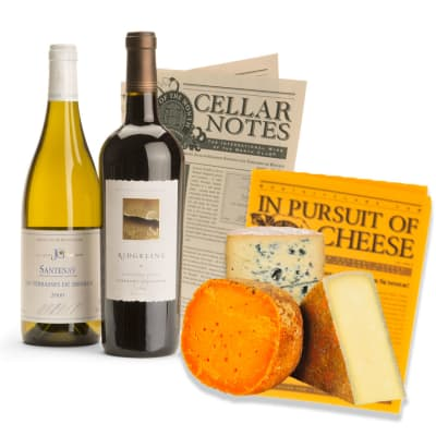 Premium International Wine & Cheese Gift