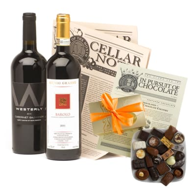 Bold Red Wine & Chocolate Gift