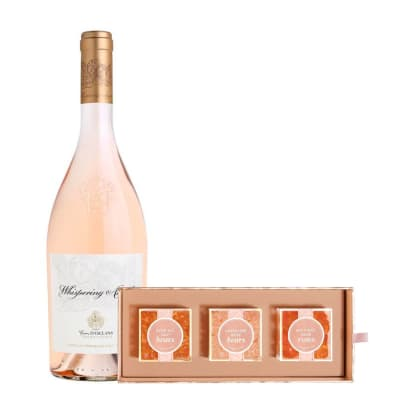 Whispering Angel Rosé with Sugarfina Rosé All Day Bento Box