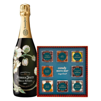 Perrier-Jouët Belle Epoque with Sugarfina Vice Collection Bento Box