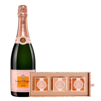 Veuve Clicquot Rosé with Sugarfina Rosé All Day Bento Box