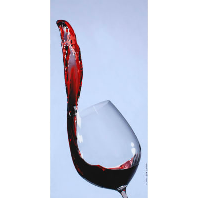 Original Oil Painting of Red Wine Spilling from a Wine Glass