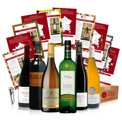 Six Bottles of French Wine in a Gift Box