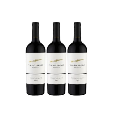 Three Botttles of Napa Red Wine — Three Different Vintages
