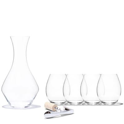 Classic Wine Lover's Gift Set: Decanter, Glasses, and Corkscrew